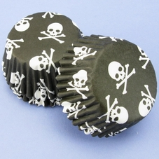 Pack Of 54 Small Cupcakes With Skull & Crossbones Design
