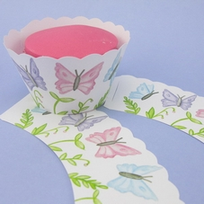 Pack Of 12 Painted Butterflies Cupcake Wraps