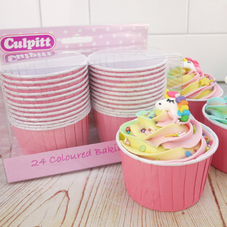 Pink Baking Cups For Cupcakes (24pc.)