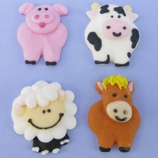 Pack of 12 Farmyard Animals Pipings