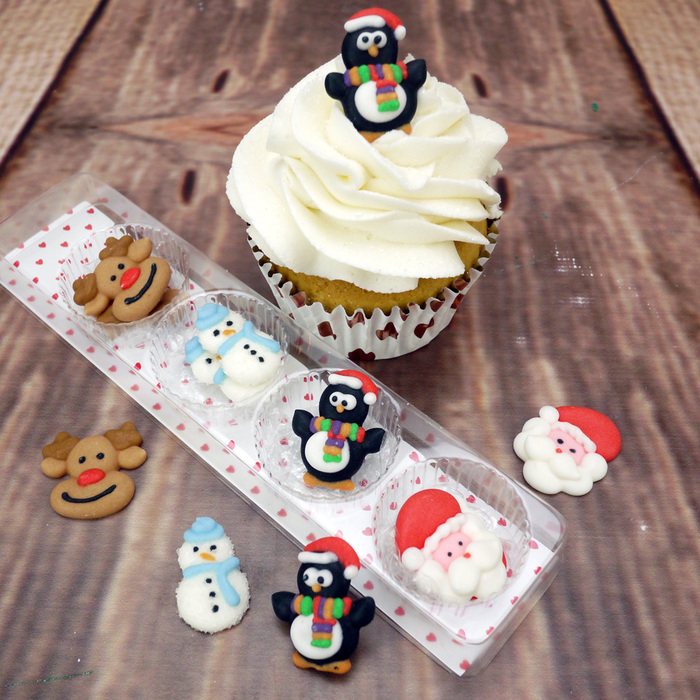 Baked With Love 12 XMAS DECORATIONS (Rudolph/Snowman/Penguin/Santa)