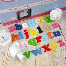 Cake Star Push Easy Lower Case Alphabet Cutters