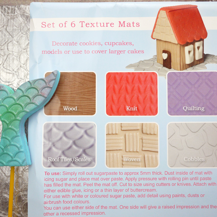 Cake Star Set Of 6 Texture Mats (Wood/Cobbles/Scales/Quilting/Woven/Knit)