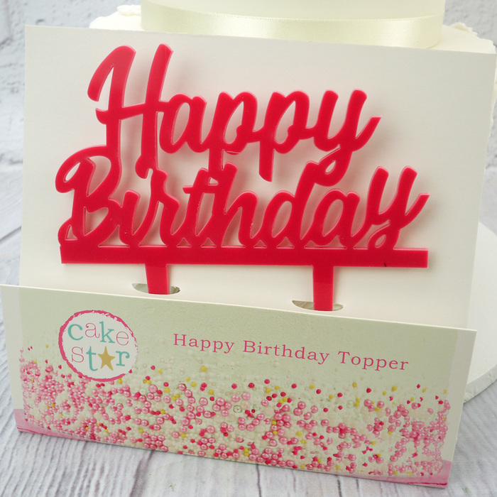 Pink 'Happy Birthday' Topper By Cake Star
