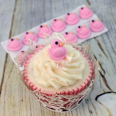 Pack Of 12 CCW Flat Pink Icing Ducks