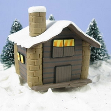 Claydough Log Chalet