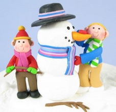 Claydough Snowman Builders