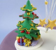 Claydough Decorated Christmas Tree & Presents