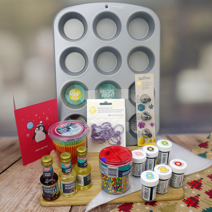 'Colours And Flavours' Cupcake Kit (see online what's included)