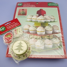 Christmas Treat Stand & Pack Of 24 'Homemade Goodies' Cases & Picks