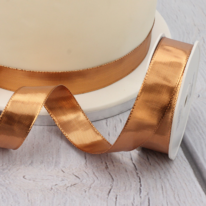 Copper (Rose Gold) High Shine 25mm Ribbon