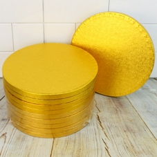 (10 Pack) Gold Round Cake Drums / Cake Boards