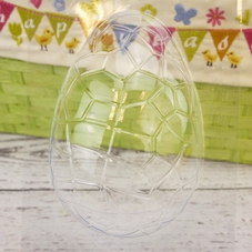 Large Clear Cracked Half Easter Egg Mould (5.5 Inch)