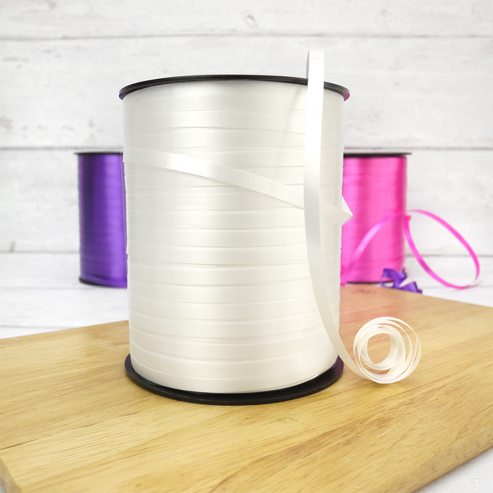500m Reel Of White Curling Ribbon