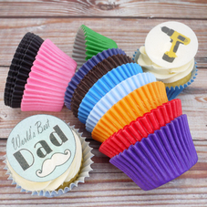 Assorted Coloured Cupcake Cases (144Pc.)