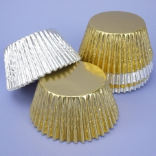 Pack Of 64 Silver & Gold Cupcake Cases