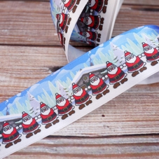 'Multiple Santas And Log Cabins' Ribbon