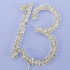 Silver Diamante 13 On Wire With Pick