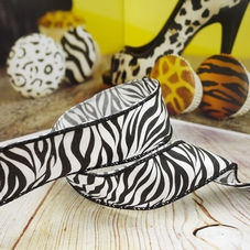 Black & White Zebra Print Ribbon