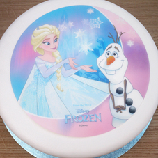 Elsa & Olaf (From Disney's Frozen) Wafer Plaque