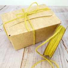 10 Metre Reel Of 2mm Yellow Hessian String