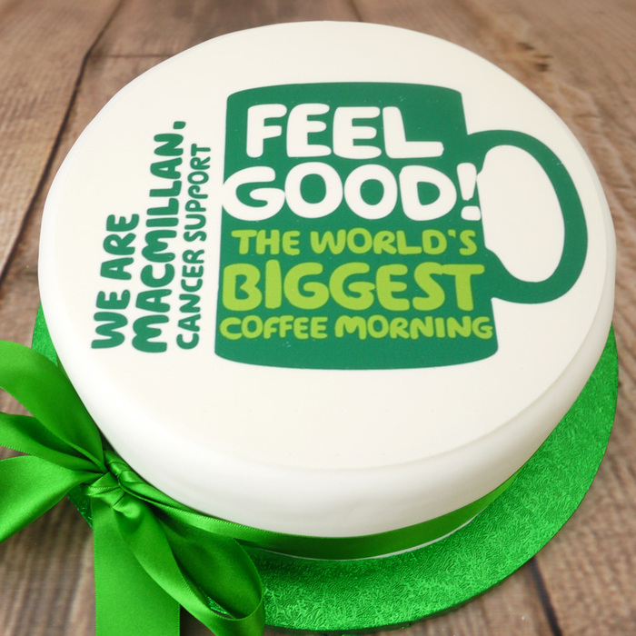 PhotoCake Macmillan Coffee Morning Cake Topper (NO PHOTO)