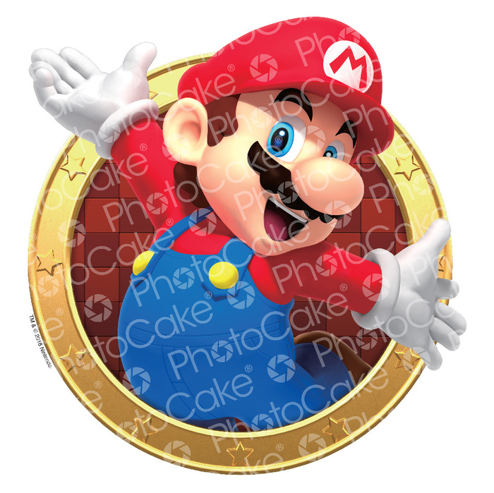 Super Mario 'Mario' Edible Printed Cake Topper (NO PHOTO)