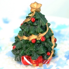 Resin Decorated Christmas Tree Cake Topper
