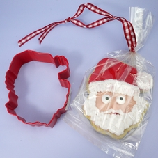 Red Metal Santa Head Cookie Cutter