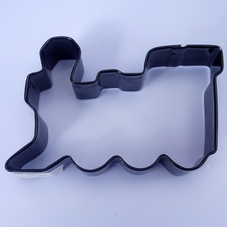 Black Metal Train Cookie Cutter