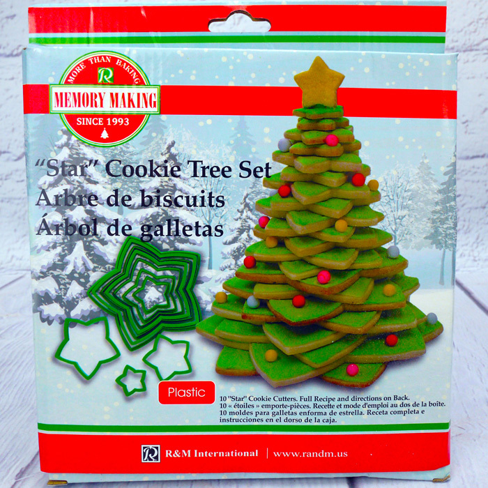 3d Star Christmas Tree Cookie Cutter Set 10 Pc