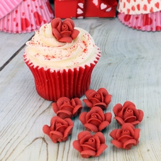 Red Piped Icing Roses