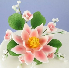 Handmade Sugar Water Lily Spray