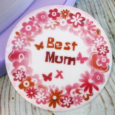 'Best Mum' Sugar Plaque