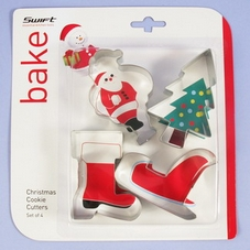 Set Of 4  Xmas Cookie Cutters