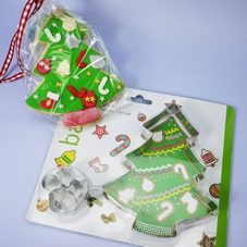 6 Piece Christmas Tree Cookie Cutter Kit