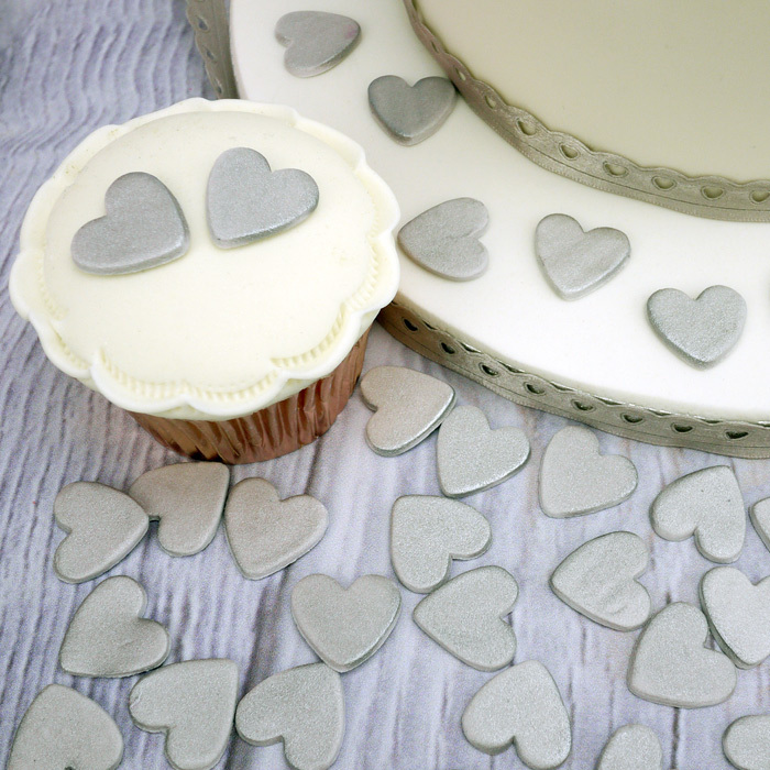 Silver Sugar Hearts By Doric