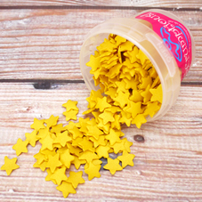 Tub Of Glimmer Gold Stars Sprinkles