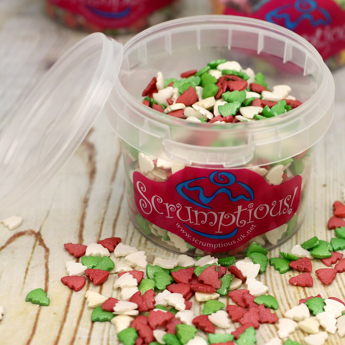 Mini Christmas Tree Sprinkles Mix (60g Tub)