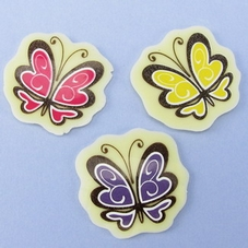 Flat Chocolate Butterflies