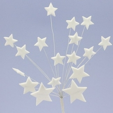 Large White Icing Stars Spray Cake Topper