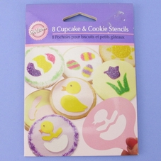 8 Piece Easter Mini Stencil Cupcake & Cookie Set