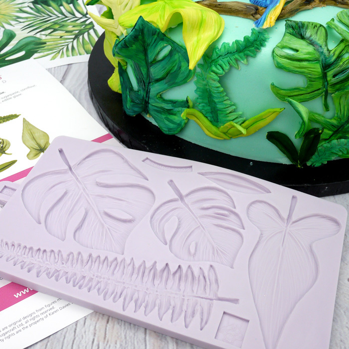 Karen Davies Tropical Leaves Mould