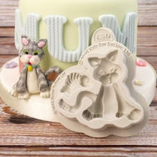 Katy Sue Cat Silicone Mould (Sugar Buttons Range)