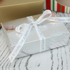 Silver Snowflake Six Chocolate Ballotin Boxes