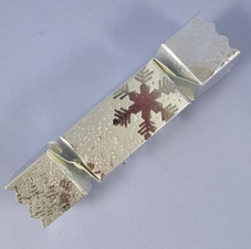 Pack Of 10 Silver Snowflake Cracker Chocolate Box