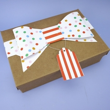 Pack Of 2 Toot Sweet Treat Boxes With Large Bow & Gift Tag