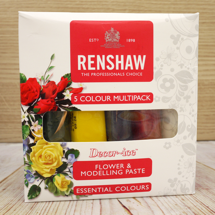 Renshaw 5 Colours Multipack FLOWER & MODELLING PASTE (Boxed)
