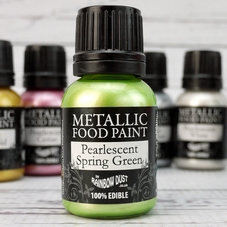 Rainbow Dust Spring Green Metallic Food Paint - image 1