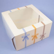 6 Inch Beige Cake Box With Window